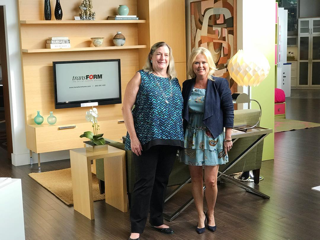 transFORM Senior Designer Linda Cunningham with Westchester realtor Kimberly Arenas for What's Up Westchester