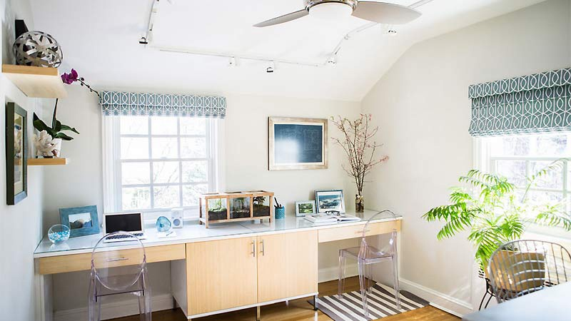 Exceptional Houzz Features Light U0026 Airy Home Office Collaboration